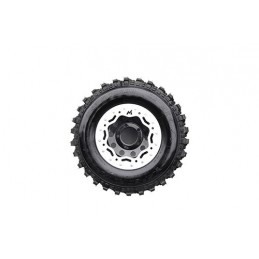 Terrafirma Modular Steel Beadlock Wheel (Black And Silver) - All Models www.p38spares.com all, and, wheel, steel, terrafirma, mo