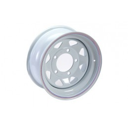 8 Spoke Steel Wheel (White) - All Models - supplied by p38spares all, wheel, steel, models, -, 8, Spoke, (White)