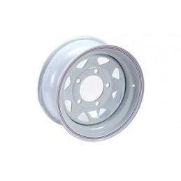 8 Spoke Steel Wheel (White) - All Models - supplied by p38spares all, wheel, steel, models, -, 8, Spoke, (White)