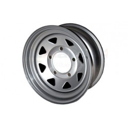 8 Spoke Steel Wheel (Silver) - All Models - supplied by p38spares all, wheel, steel, models, -, (Silver), 8, Spoke