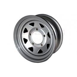 8 Spoke Steel Wheel (Silver) - All Models - supplied by p38spares all, wheel, steel, models, -, (Silver), 8, Spoke
