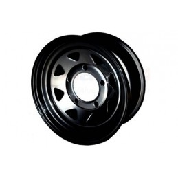 8 Spoke Steel Wheel (Black) - All Models - supplied by p38spares all, wheel, steel, models, -, 8, Spoke, (Black)
