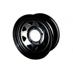 8 Spoke Steel Wheel (Black) - All Models - supplied by p38spares all, wheel, steel, models, -, 8, Spoke, (Black)