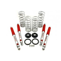 Air to Coil Conversion Kit Discovery 2 Med Load + 3In 4 Stage Adjustable Shocks - Land Rover Discovey 2 All Models 1998-2004 -