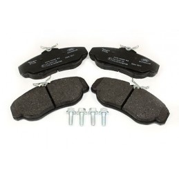 Mintex Front Vented Brake Disc Pad Set - Land Rover Discovery 2 4.0 L V8 & Td5 Models 1998-2004 - supplied by p38spares front,