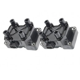 Ignition Coil Pack - Square Pack X2 For X8 Leads From Vin Xa410482 - Range Rover Mk2 P38A 4.0 4.6 V8 Petrol Models 1999-2002 www