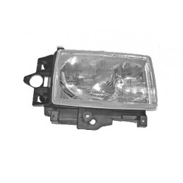 Right Side Headlamp Lighting Unit Assembly - Rhd - Plain Surround - Range Rover Mk2 P38A 4.0 4.6 V8 & 2.5 Td Models 1994-1999