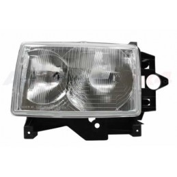 Left Side Headlamp Lighting Unit Assembly - Lhd - Plain Surround - Range Rover Mk2 P38A 4.0 4.6 V8 & 2.5 Td Models 1994-1999 -