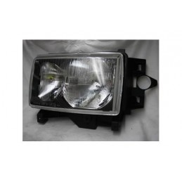 Left Side Headlamp Lighting Unit Assembly - Lhd - Black Surround - Range Rover Mk2 P38A 4.0 4.6 V8 & 2.5 Td Models 1999-2002 -