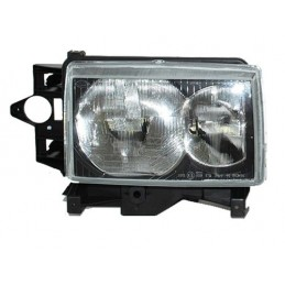 Right Side Headlamp Lighting Unit Assembly - Rhd - Black Surround - Range Rover Mk2 P38A 4.0 4.6 V8 & 2.5 Td Models 1999-2002