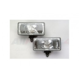 Pair Of Rectangular Driving Lamps For All Vehicles - Range Rover Mk2 P38A   4.0 4.6 V8 & 2.5 Td Models 1994-2002