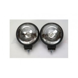 Pair Of 188Mm Round Sportsline Driving Lamps For All Vehicles - Range Rover Mk2 P38A 4.0 4.6 V8 & 2.5 Td Models 1994-2002 - su