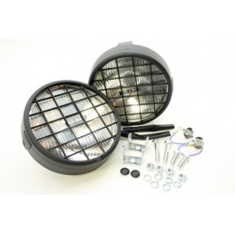 Pair Of 5.5In Round Roadrunner Driving Lamps For All Vehicles - Range Rover Mk2 P38A 4.0 4.6 V8 & 2.5 Td Models 1994-2002 - su