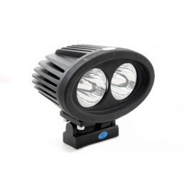 Single Terrafirma Oval Twin 20W Cree Led 2000Lm Spotlight - Range Rover Mk2 P38A 4.0 4.6 V8 & 2.5 Td Models 1994-2002 www.p38spa