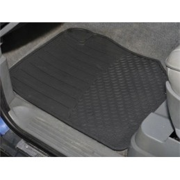 Front Pair Of Rubber Over Floor Mats X2 - Range Rover Mk2 P38A 4.0 4.6 V8 & 2.5 Td Models 1994-2002 - supplied by p38spares fr