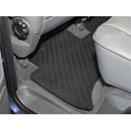 Rear Pair Of Rubber Over Floor Mats X2 - Range Rover Mk2 P38A 4.0 4.6 V8 & 2.5 Td Models 1994-2002 - supplied by p38spares rea