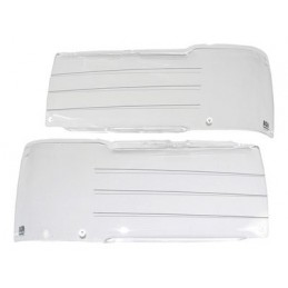 Front Lamp Guards - Acrylic Protectors - X2 - Range Rover Mk2 P38A 4.0 4.6 V8 & 2.5 Td Models 1994-1999 - supplied by p38spare