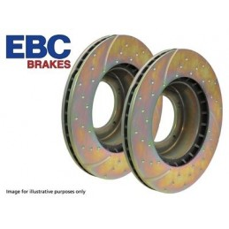 Ebc Performance Front Brake Discs X2 - Range Rover Mk2 P38A 4.0 4.6 V8 & 2.5 Td Models 1994-2002 - supplied by p38spares front