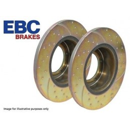 Ebc Performance Rear Brake Discs X2 - Range Rover Mk2 P38A 4.0 4.6 V8 & 2.5 Td Models 1994-2002 - supplied by p38spares rear,