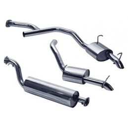 Stainless Steel Exhaust System - Bmw Diesel Twin Tailpipe - Range Rover Mk2 P38A 2.5 Td Models 1997-2002 - supplied by p38spar