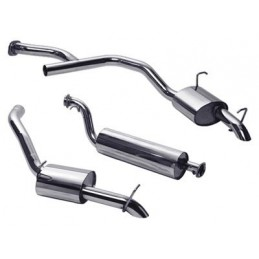 Stainless Steel Exhaust System - Petrol Twin Tailpipe - Range Rover Mk2 P38A 4.0 4.6 V8 Models 1997-2002 - supplied by p38spar