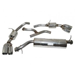 Stainless Steel Sports Exhaust System - Diesel Twin Tailpipe - Range Rover Mk2 P38A Bmw 2.5 Td Models 1994-2002 - supplied by