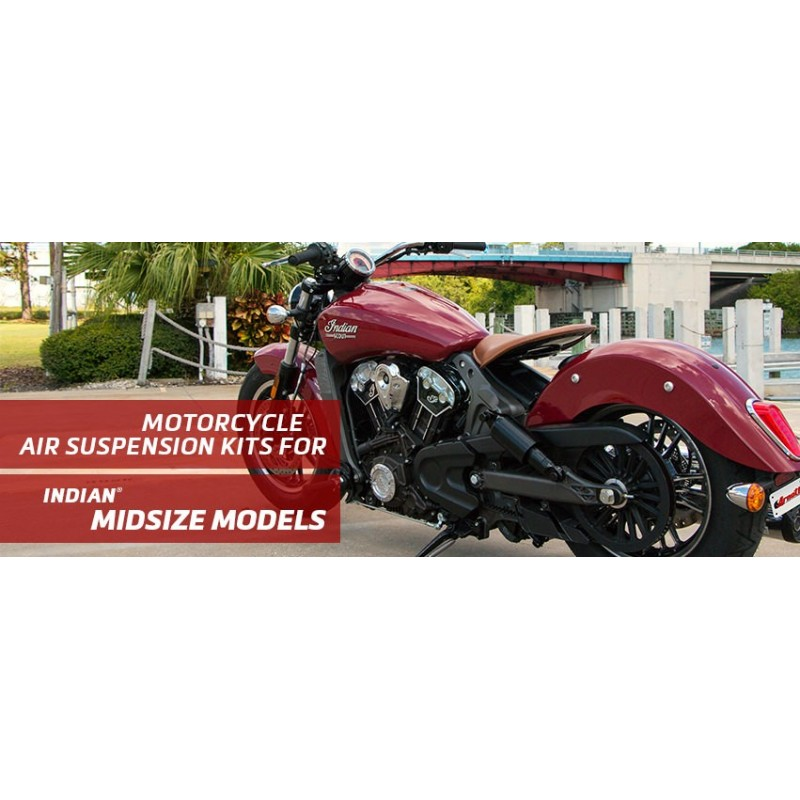Arnott   Indian - Bagger/Cruiser Series (3) Motorcycle Air Suspension Kit For Model Years 2014-2018 - Chrome - supplied by p38sp