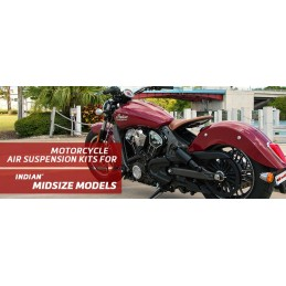 Arnott   Indian - Scout, Sixty & Bobber (With Abs) Motorcycle Air Suspension Kit For Model Years 2014-2018 - Black - supplied by