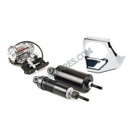 Harley-Davidson - Softail Motorcycle Air Suspension Kit For Model Years 2001-2017 - Chrome - supplied by p38spares Harley-Davi