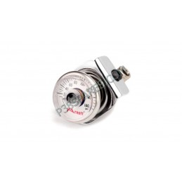 Pressure Gauge - Suzuki Motorcycle Air Suspension Kit For Model Years 1998-2017 - Chrome - supplied by p38spares Pressure Gaug
