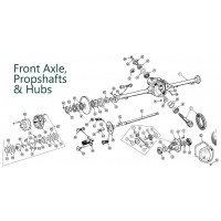 Land Rover Discovery 1 1989-1994 Front Axle, Propshafts & Hubs Parts from Allmakes, Britpart, OEM and Bearmach