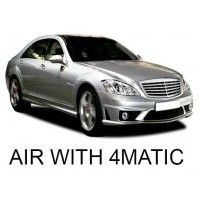 Mercedes-Benz W221 with AIRMATIC, with 4MATIC 2007-2013|Air Suspension Springs, Compressors, Coil Conversion Kits