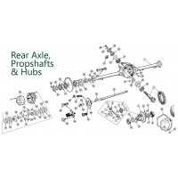 UK Based Supplier of top quality Range Rover P38 1994-2002 Rear Axle, Propshaft, Hubs parts from Allmakes, Britpart, Bearmach