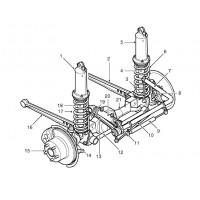 Land Rover Discovery 2 front suspension and bush parts