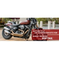 Softail - Arnott Air Suspension Ride Kits for Harley-Davidson® Softail, including the: Slim, Fat Boy, Heritage and Breakout.